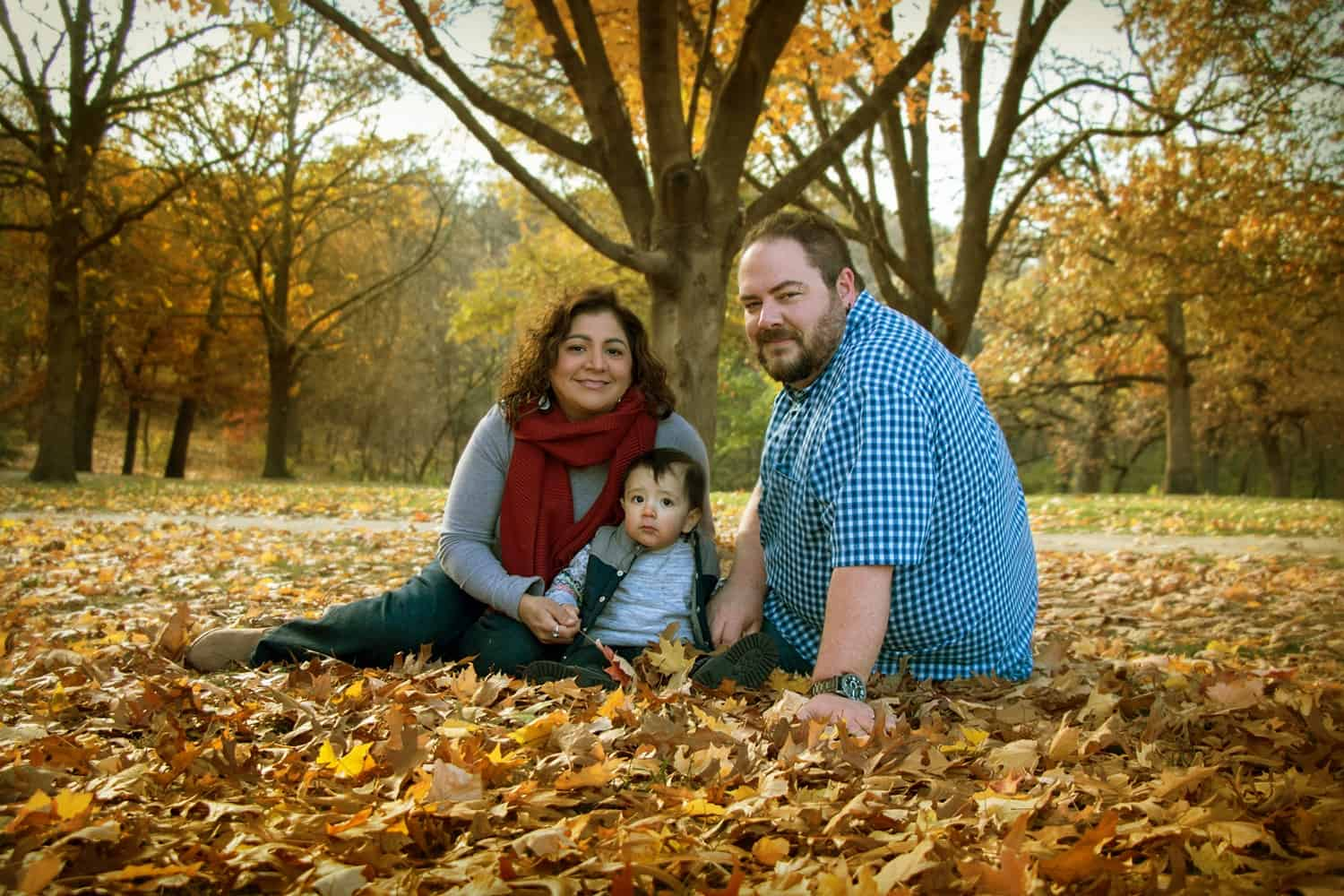 Marisa Gonzales, Graphic Artist, Family Photo in Fall 2018