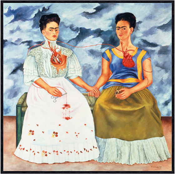Frida Kahlo - The Two Fridas Painting
