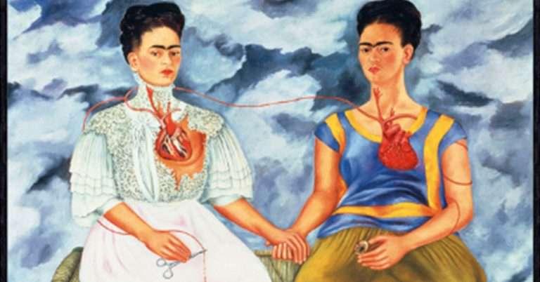 Frida Kahlo - The Two Fridas Painting
