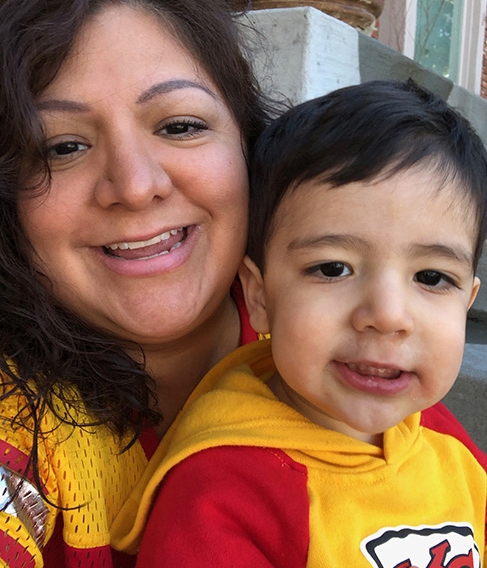 Marisa Gonzales and son, G