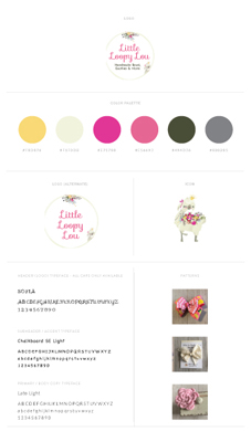 Little Loopy Lou Brand Identity Board