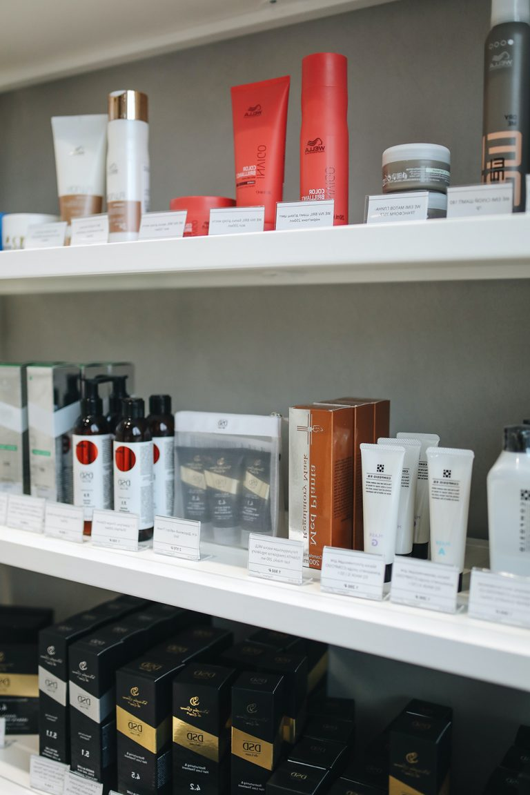 Skincare products on store shelves