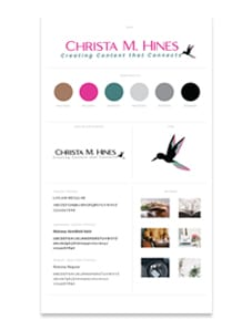 Christa M. Hines Branding Board