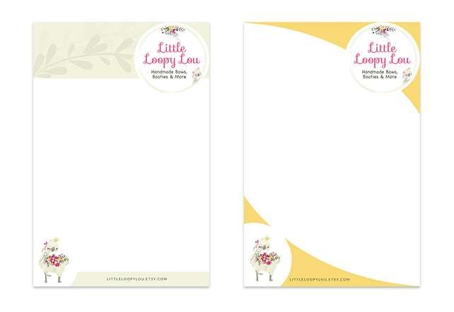 Little Loopy Lou Custom Pinterest Templates