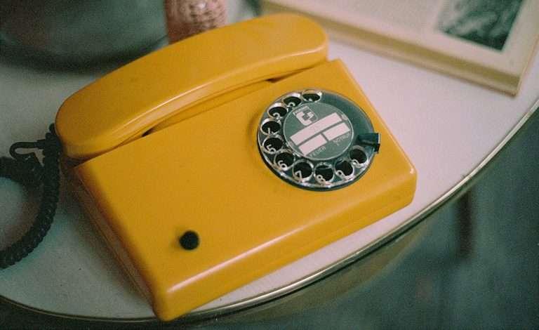 80s yellow tinted phone