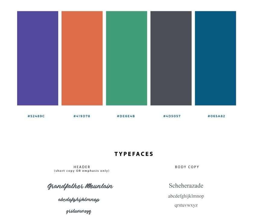 Original Brand Identity Colors - Masculine