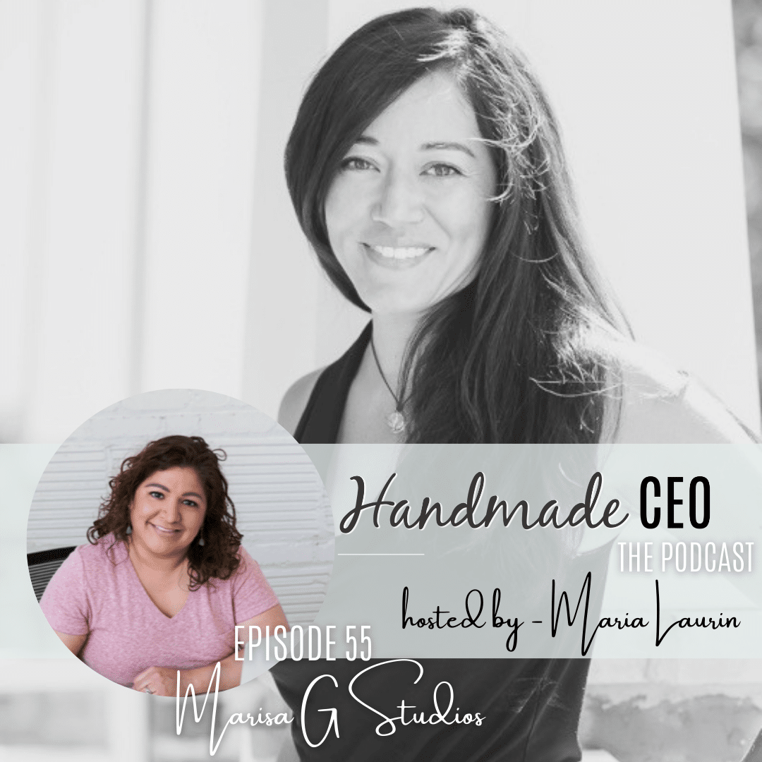 Handmade CEO Podcast interviewing Marisa Gonzales